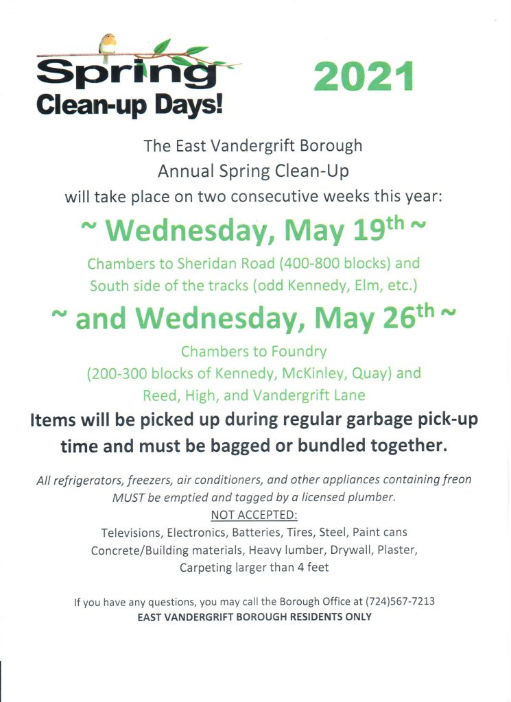 2021 spring cleanup day