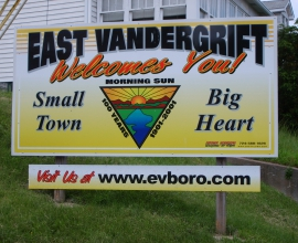 WELCOME TO EAST VANDERGRIFT